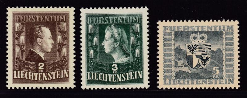 Liechtenstein 1944  Prince Princess & Coat of Arms VF/NH