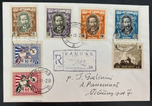 1928 Kaunas Lithuania First day cover FDC To Panemun 10th Anniv Of Independence