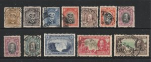 Southern Rhodesia a selection of KGV used