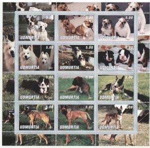 Udmurtia MNH S/S Buddy Dogs 2001