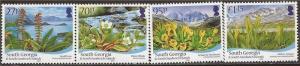 South Georgia - 2010 Flora - 4 Stamp Set - Scott #412-15 - 19C-006
