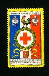 France Stamps 1916 Rooster Label