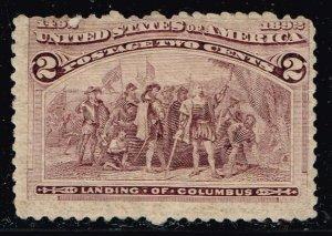 US STAMP #231 1893 2¢ Columbian Commemorative MH/OG STAMP