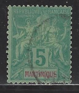 Martinique Scott # 36, used