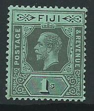 Fiji  GV  SG 134b  MUH  on blue green tone spots