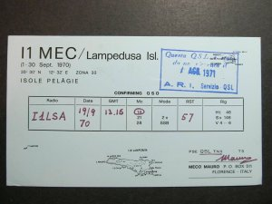 4352 Amateur Radio QSL Card Isole Pelagie Italy