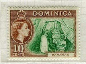 DOMINICA; 1954 early QEII issue fine Mint hinged 10c. value