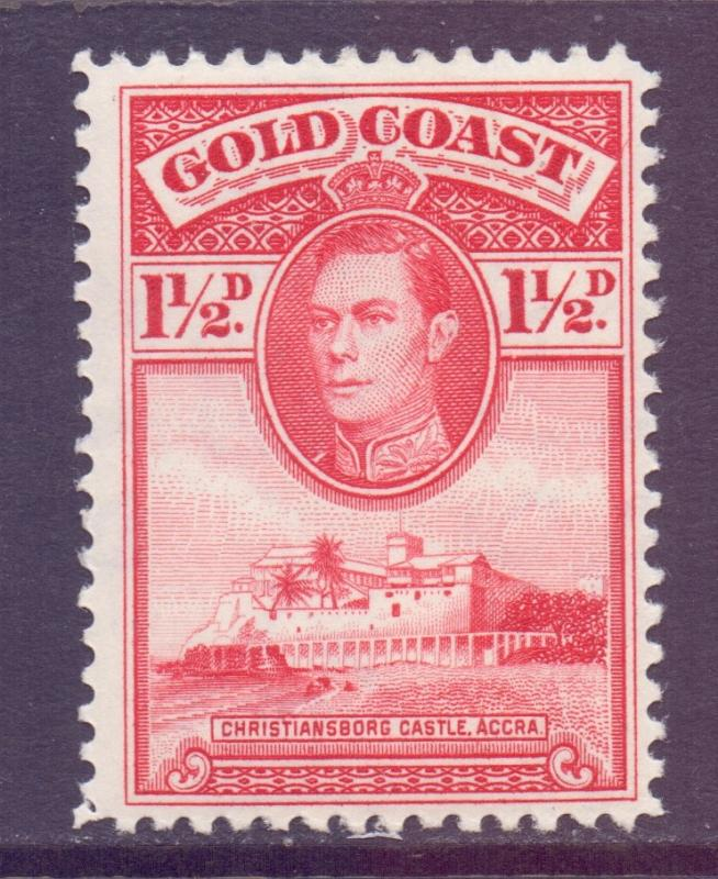 Gold Coast Scott 117 - SG122, 1938 George VI 1.1/2d Perf 12 MH*