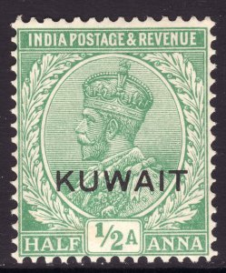 1929 - 37 British Kuwait KGV ½ Anna issue MNH Sc# 17 Wmk 196 CV $10.00 Stk #2