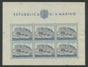 San Marino 1949 UPU 75th Anniversary S/S Sc# 304 mint