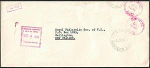 SAMOA 1966 OFFICIAL PAID P & T Dept cover - Apia  to New Zealand...........78102