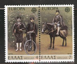 GREECE Scott 1293-1294 = 1269-4a MNH** 1979 Europa pair