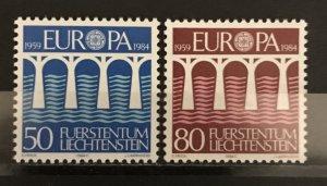 Liechtenstein 1984 #779-80, MNH, CV $1.10