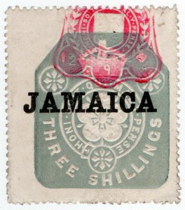 (I.B) Jamaica Revenue : Duty Stamp 3/- (die I)