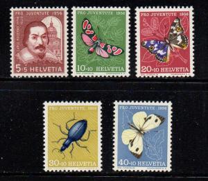 Switzerland Sc B257-61 1956 Pro Juvente stamp set mint NH