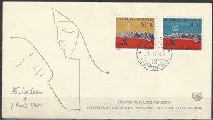 Liechtenstein  United Nations Cocteau Cover 1960