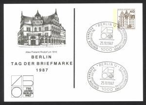 Germany Berlin FD CXL 1987 10.25 Berlin Tag der Briefmarke schöner SST von 1987