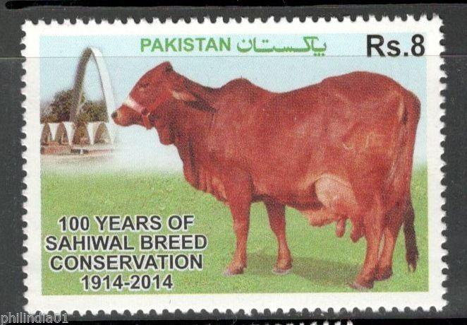 Pakistan 2014 Sahiwal Breed Conservation Cattle Agriculture Animals MNH # 4201