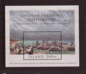 Iceland Sc 921 2000 Stamp Day stamp sheet mint NH