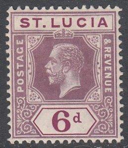 St. Lucia 86 MH CV $2.50