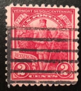 643 Vermont Sesquicentennial, Circulated single, Vic's Stamp Stash