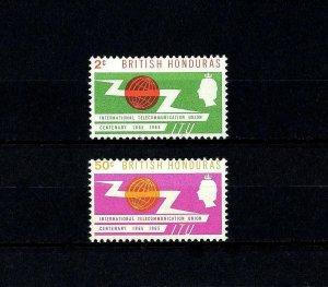 BRITISH HONDURAS - 1965 - QE II - ITU - TELECOMMUNICATIONS - MINT - MNH SET!