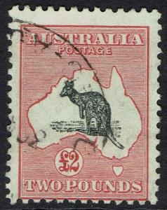 AUSTRALIA 1931 KANGAROO 2 POUNDS WMK C OF A USED