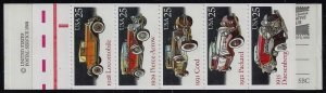 2381 - 2385a BK164 Complete Classic Cars Booklet Mint NH