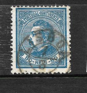 PORTUGAL 1880-82  50r  KL  P12 1/2  FU  SG 184