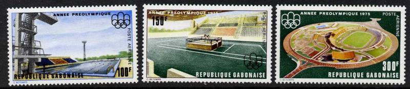 Gabon C166-8 MNH Architecture, Olympic Games