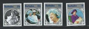 Barbados   mnh   s.c.# 660-663