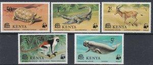 KENYA  1977  WILD ANIMALS SET  MNH