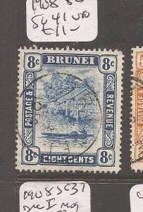 Brunei 1916 SG 49-50 VFU (2cdd)