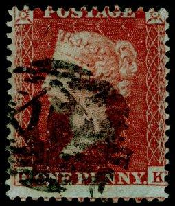 SG22, 1d red-brown, SC14 DIE I, USED. Cat £100.