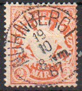 Mi: 44   Used   1876  Cat  €  20.00  bavaria