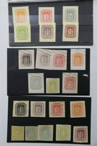 Hamburg Germany Postal Stationary cut square Castle set lot 22 unused envelope