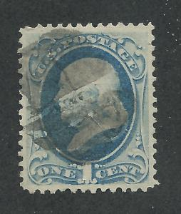 182 Used,  1c. Franklin, XF-Superb