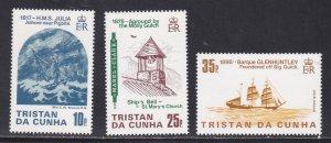 Tristan da Cunha # 368-370, Shipwrecks, NH, 1/2 Cat.
