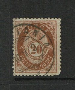 Norway SC# 43, Used, sm Hinge Remnant - S9370