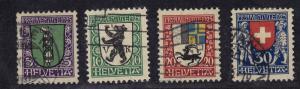 SWITZERLAND #B33-B36 CV $11.00 item #A36