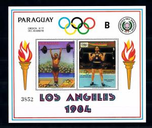 [55512] Paraguay 1983 Olympic games Los Angeles Weightlifting MNH Sheet