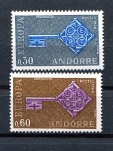 Fr. Andorra  Europa 1968 Mint VF NH