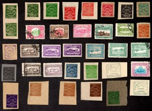 35  All Different CHARKHARI Stamps  (INDIAN STATE)