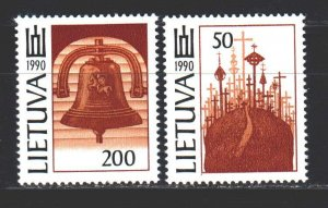 Lithuania. 1992. 468-69 of the series. Religion. MNH.
