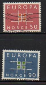 Norway Sc  441-2 1963 Europa stamp set used