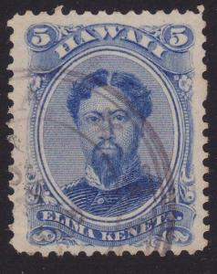HAWAII 1864-86 5c Sc32 used.................................................2189