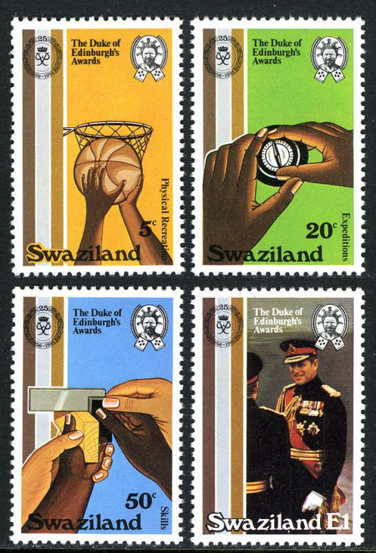 Swaziland 391-394, MNH. Duke of Edinburgh's Awards, 25th anniv. Basketball, 1981