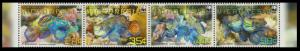 Micronesia WWF Mandarinfish Strip of 4v MI#2052-2055 SC#848a-d