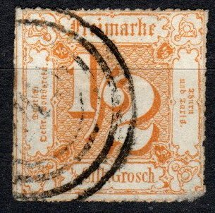 Thurn And Taxis #23 F-VF Used  CV $37.50  (X5186)