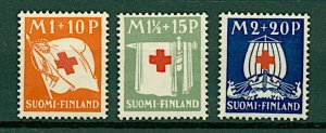 Finland 1930 Red Cross Fund sg278/80 (3v) Mounted Mint Stamps